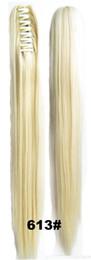 Argentina Venta al por mayor- 28 colores 55 cm 170G Mujeres recta larga cola de caballo Vino negro Tinto Rubio Extensión del cabello Garra de la cola Pelo sintético Tail Hairpiece cheap red ponytail extensions Suministro