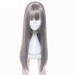 Wholesale White Wig Cosplay Long - Female's Wig Smoke Dark Grey Full Long Synthetic Hair Cosplay Party Wig For Custume
