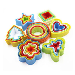 Wholesale Star Shaped Cookies Cutter - Star Frill Flower Christmas Tree Heart Shape Cookie Cutter Cake Baking Mold