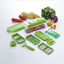 Wholesale Milling Cutters Wholesale - Super Slicer Plus Vegetable Fruit Peeler Dicer Cutter Chopper Nicer Grater Multifunction Cutting Kitchen Tools 24 Sets OOA1889