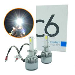 Wholesale Car Led Light Bulb Set - 1 Set 72W 7800LM H3 COB LED Headlight Car LED Headlight Bulb easy install H1H27 880 881 H7 H8 H9 H11 9005 9006 hb3 hb4