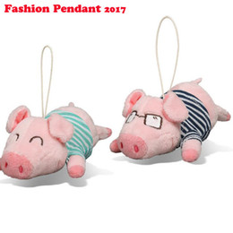 Wholesale Pig Decor - Cute Cartoon Pig Decor Baby Kid Plush Toy Piggy Stuffed Toy Great Gift glasses plush pig keychain