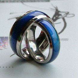 Wholesale Cheap Indian Wedding - 100pcs mix size mood ring changes color to your temperature reveal your inner emotion cheap fashion jewelry Stainless Steel ring