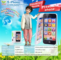 Wholesale Iphone 4s Toy Phone - Free Shipping 2017 New arrival Childrens Y-Phone Educational Learning Kids iPhone TOY 4s 5 Christmas Gift Y-Phone Educational Learning Kids