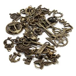Großhandels-50pcs / Lot mischte sortierte Halsketten-Charme-Punkart-Eulen-Pfeil-Glas-Masken-Anhänger-Charme-DIY Jewerly, die Entdeckungen F2677 machen von Fabrikanten