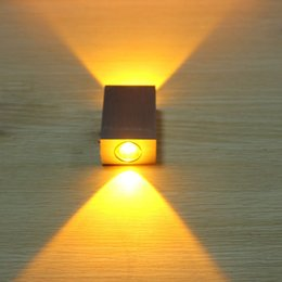 6w Aluminum Square Led Wall Lamp Ac85 265v Cob High Power Led Modern Home Lighting Indoor And Outdoor Decoration Light