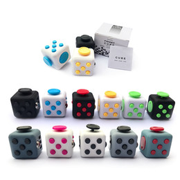 Wholesale Dice Funny - Super recommended 11 Colors Fun Fidget Cube Toy Dice Anxiety Attention Anti stress Puzzle Magic Relief Adults Funny Fidget Toys