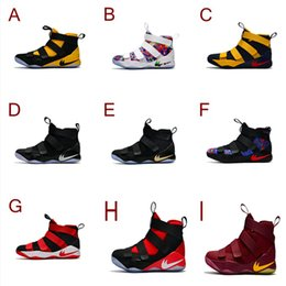 Wholesale Sports Shoes For Soccer - 2017 Top quality james 11 Zoom Soldier 11 XI EP Game Blue Men's Basketball Shoes for james 11 Cheap Sale Sports Size 7-12