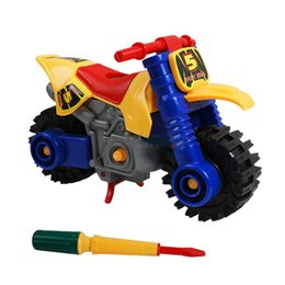 Wholesale Disassembly Educational Toy - Wholesale- Fashion Disassembly motorcycle Design Educational toys for children Kids dropship Y714