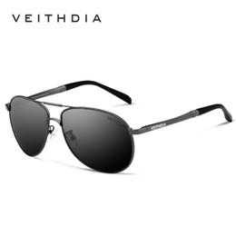 gafas de veithdia Rebajas 2018 VEITHDIA Marca Hombres Gafas de Sol Lente Polarizada Gafas de Sol Male Fashion Eyewear and Accessories oculos de sol masculin 3320