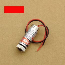 Wholesale Laser Line Module Focus - 5mW 650nm Red Line Laser Module Focus Adjustable Laser Head 5V Industrial Grade