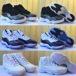 """Wholesale Frost Cream - 2017 Air Retro 11 XI High GS """"Frost White"""" Midnight Navy Barons Cheap 11s Men Women Basketball Shoes Sneakers Size Eur 36-47"""