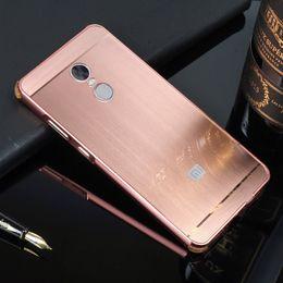 Wholesale Metal Case For Xiaomi - Brushed Case For Xiaomi Redmi Note 4 Note 4X  Hongmi Note 4 PC Back Cover & Metal Frame Coque Fundas TPU Anti-Knock