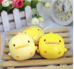 Wholesale Ducks Charms - Hot sale cute duck Squishy Kawaii Buns Bread Charms Key Bag Cell Phone Straps Charm freeshipping