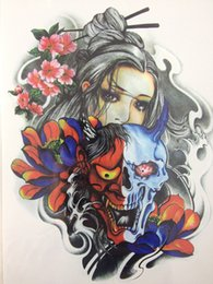 Wholesale Masks Art - Wholesale-2016 Hot Sale21 X 15 CM Devil girl under the mask Temporary Tattoo Stickers Temporary Body Art Waterproof #114