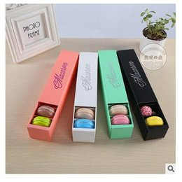 Wholesale Wholesale For Cupcake Packaging - Candy or Macaron Box Holds 6 Cavity Food Packaging Gifts Paper Party Boxes For Bakery Cupcake Snack Candy