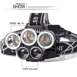 Wholesale Divers Lamp - 2017 HP26 8000LM 5mode xml T6 led Rechargeable Headlight Outdoor Camping Hunting Fishing Head Lamp Contains the battery sent