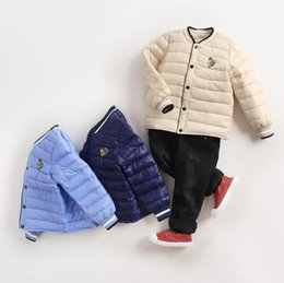 Wholesale Girls Coat Size Years - big kids winter clothes 1-10 Year old girl boy down coat clothes Kids size 5 6 7 8 outwear jackets coats boys girls