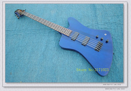 Wholesale Bass Guitar Thunderbird - Bass Guitars 5 Strings Thunderbird Electric BASS In Blue New Arrival Wholesale From China Best Selling