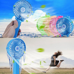 Wholesale Handheld Folding Fans - USB Rechargeable Handheld Mini Fan Lithium Battery Portable Folding Cooling Fan Foldable Hand USB Mini Fan KKA1921