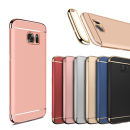 Wholesale Iphone 3in1 Packaging - Cell phone cases electroplated 3in1 hard PC shockproof phone back cover with original package for Huawei mate9 Pro P9 P10 Plus
