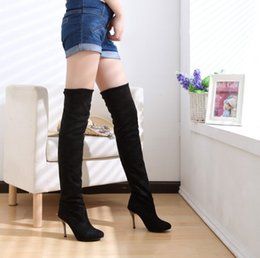 Wholesale Sexy Platform Shoes For Sale - New Arrivals Over Knee High Boots For Woman Sexy Casual Squre High Heels Platform Long Girl's Hot Sale Shoes Big Size 34-43