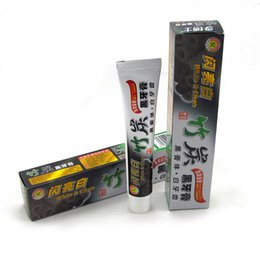 white bamboo charcoal Promo Codes - 2017 new charcoal toothpaste white and clean black toothpaste bamboo oral hygiene tooth paste
