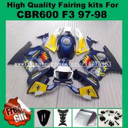 Wholesale 98 F3 - LZZGP fairing kits for honda CBR600 F3 fairings set CBR 600RR F3 1997 1998 CBR 600F3 abs fairing 97 98 + 9GIFTS