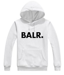 Wholesale Hoodies Men Cool - 2017 Terry BALR Casual Unisex Hoodies Sweatshirt Cool Hip Pop Pullover Mens Sportwear Coat Jogger Tracksuit Fashion