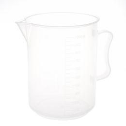Wholesale Wholesale Plastic Beaker - Wholesale- 1000mL Capacity Clear Plastic Graduated Laboratory Measuring Set Beaker