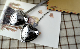 """Wholesale Stainless Steel Heart Shaped Spoons - """"Tea Time"""" Heart Tea Infuser Heart-Shaped Stainless Steel Herbal tea bag Infuser Spoon Filter Free shipping"""