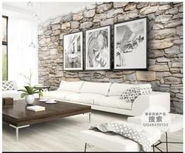 Fundos 3d on-line-3d foto papel de parede personalizado 3d murais de parede pedra Natural cultura de pedra parede de fundo 3d sala de estar decoração da parede