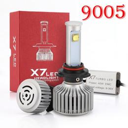 Wholesale H4 Super Bright Halogen - 1 Set 9005 HB3 X7 Cre 80W 7200lm LED Headlight Super Bright Conversion Kit XML2 4SMD LED Chip Driving Fog Headlamp Bulbs HID Xenon Halogen