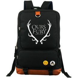 Wholesale fury game - Ours is the fury backpack Game of thrones daypack House Baratheon storm end schoolbag Casual rucksack Sport school bag Outdoor day pack
