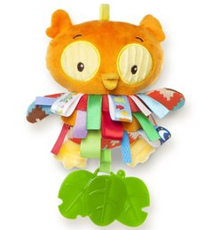Wholesale Owl Crib - Wholesale- Bed Wind Chimes Rattles Bell Toy owl tag Crib Bed Hanging Animal Teether Newborn Developmental Activity Toy 0-24 Months