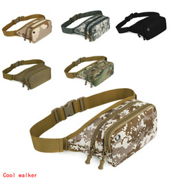 Wholesale Wholesale Military Packs - Tactical bag sport bags Military Waist Pack Shoulder Molle Camping Climbing Hiking Pouch With Six Color Outdoor Accessories EA14