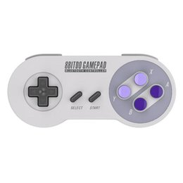 Wholesale Controllers For Pc - Hot 8bitdo SNES30 wireless Bluetooth Remote Controller Snes Game Gamepad Controll joystick For Android IOS Windows MacOS PC