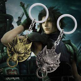 Wholesale Final Ring - Hot Movie Final Fantasy Jewelry Matt 7 Wolf Head Keychain Vintage Animal Pendant Key Chain Key Ring
