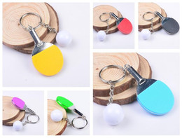 Wholesale Table Tennis Plastic Ball - Best gift Table tennis creative metal handmade jewelry personalized gift sports key ring KR174 Keychains mix order 20 pieces a lot