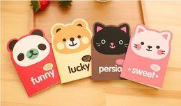 mini livro de anotações bonito Desconto Caderno bonito Nota de Papel Animal Mini Nota Livro para Estudantes Papel Notepad Estacionário para Escritório Gato Panda Urso