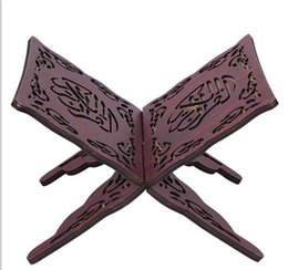 Wholesale Quran Reading Free - Wholesale-Quran Book Stand Holder QuranHolder Folding Religious Prayer Book Holder Display Stand Wooden Hands Free Reading Stand