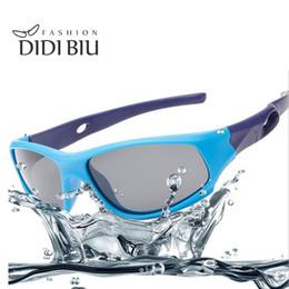 Wholesale Red Frame Safety Glasses - DIDI Kids Polarized Safety Sunglasses Children Bendable TR90 Plastic Titanium Glasses Girls Boys Summer Beach Eyewear Brands Lunette C658