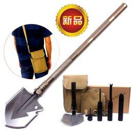 Wholesale Survival Tools Shovel - NEW Multi-function Military Portable Folding Camping Shovel Survival Spade Trowel Dibble Pick Emergency Garden Outdoor Tool