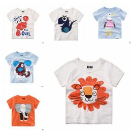 45632255a Camisetas para niños Animal Tops de algodón Boy Print Camisetas de verano  Camisas de manga corta para bebés Niños Camisas de algodón respirable Moda  bebé ...