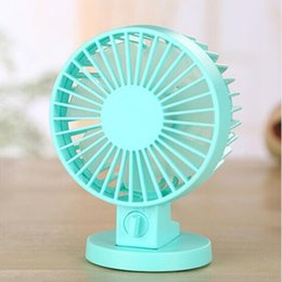 Wholesale Electric For Home - USB Fan Creative Air condition ABS Mini Desk Fans For Home Office Electric Desktop Computer Fan With Double Side Fan Blades