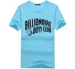 Wholesale Men Rolled Shorts - Wholesale-Free Shipping Hot Sale Mens BILLIONAIRE BOYS CLUB T-Shirts Letter BBC T Shirt Hip Hop Roll Tshirt billionaire boys club T-shirts