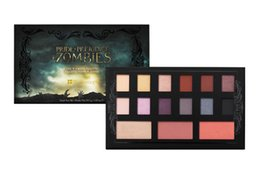 Wholesale 12 Colors Pallete - NEW Brand Makeup EyeShadow Pallete Zombie 12 Colors Matte Shadow Glow Kit Highlighter & Bronzer Palette