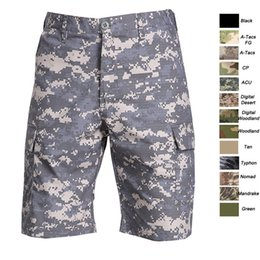 Wholesale Combat Camouflage Uniform - Outdoor Woodland Hunting Shooting Battle Dress Uniform Tactical BDU Army Combat Clothing Quick Dry Pants Camouflage Shorts SO05-106