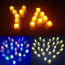 Wholesale White Paper Bags For Candles - 20pcs lot High Brightness LED Lantern Lamps, White Candles Light for Paper Lantern Candle Bag Christmas Wedding Party Deocration