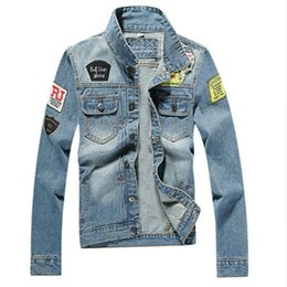 Wholesale Vintage Jeans Men - Men's Denim Jacket High Quality Fashion Jeans Jackets Slim Fit Casual Streetwear Vintage Mens Jean Clothing Plus Size M-5XL